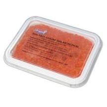 Икра горбуши солено - мороженая trident (2 сорт) 1 кг.