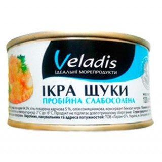 Икра щуки пробойная, слабо соленная Veladis - Веладис жесть банка 120 грамм.