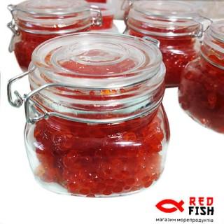 Икра лососевая красная кеты 200 грамм стекло