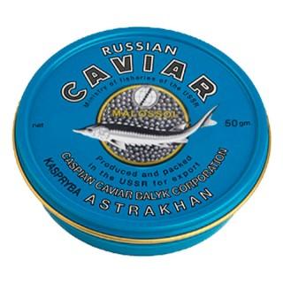 Черная  икра дикого вылова - забойная калуги каспийская 50 грамм