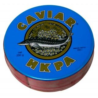 Черная осетровая икра дикого вылова - забойная дагестанская imperial - империал каспийская 250 грамм жесть банка