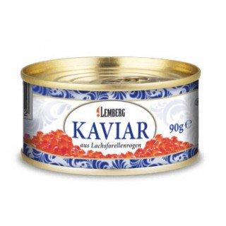 Красная икра лососевая форелевая 90 грамм